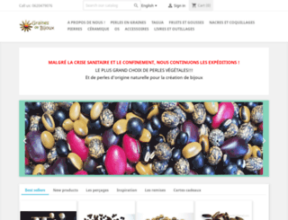 graines-de-bijoux.com screenshot