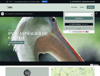 gramat-parc-animalier.com screenshot