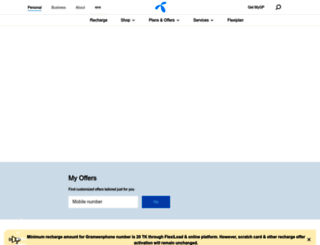 grameenphone.com screenshot