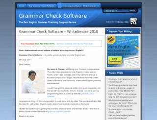 grammarchecksoftware.com screenshot