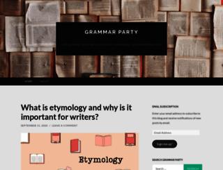 grammarpartyblog.com screenshot