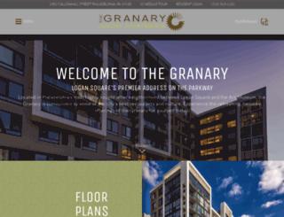 granaryapts.com screenshot
