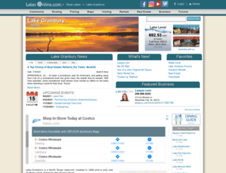granbury.lakesonline.com screenshot