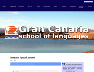 grancanariaschool.com screenshot