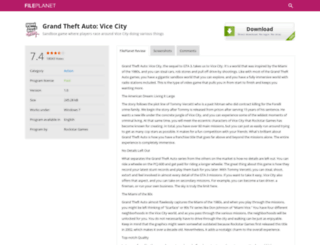 grand-theft-auto-vice-city.fileplanet.com screenshot