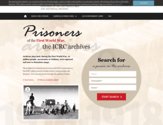 grandeguerre.icrc.org screenshot