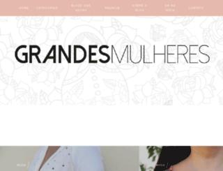 grandesmulheres.com screenshot