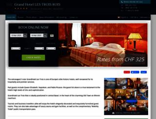 grandhotel-3-rois-basel.h-rez.com screenshot