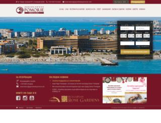 grandhotelpomorie.com screenshot