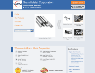 grandmetalcorp.com screenshot
