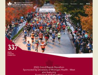 grandrapidsmarathon.com screenshot