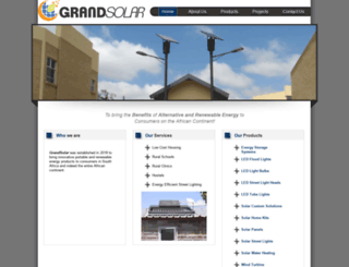 grandsolar.co.za screenshot