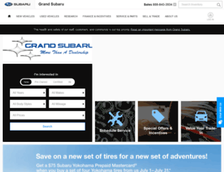 grandsubaru.com screenshot