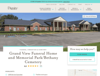 grandviewfunerals.com screenshot