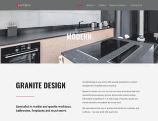 granitedesign.co.uk screenshot