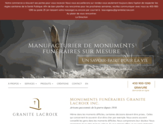 granitelacroix.com screenshot