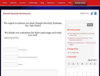 granitesecurityservicesinc.com screenshot