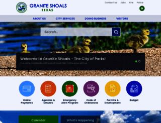 graniteshoals.org screenshot