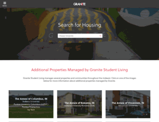 granitestudentliving.com screenshot