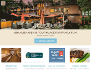 granlibakken.com screenshot