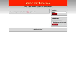 grant.fr screenshot