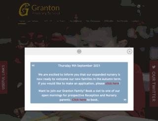 grantonprimary.org.uk screenshot