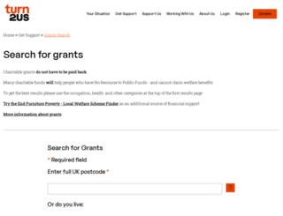 grants-search.turn2us.org.uk screenshot