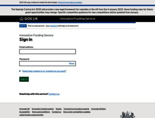 grants.innovateuk.org screenshot
