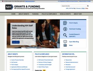 grants.nih.gov screenshot