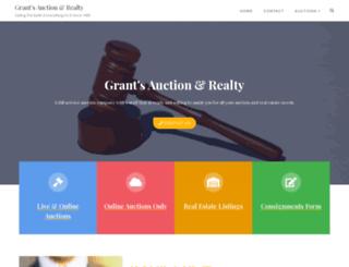grantsauction.com screenshot