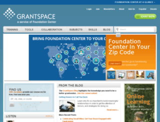 grantsfire.org screenshot