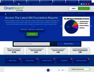 grantwatch.com screenshot