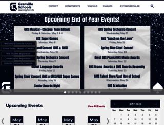 granvilleschools.org screenshot