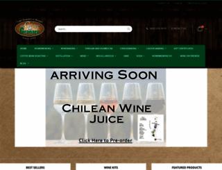 grapeandgranary.com screenshot