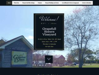 grapefullsistersvineyard.com screenshot
