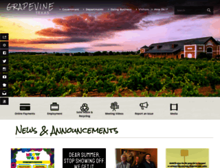 grapevinetexas.gov screenshot