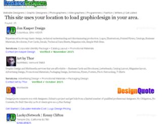 graphicdesign.freelancedesigners.com screenshot