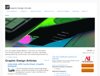 graphicdesignschools.com screenshot