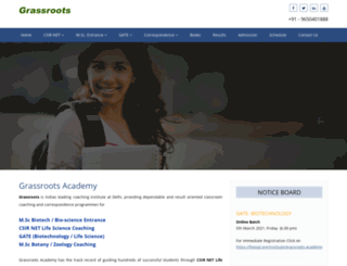 grassrootsacademy.in screenshot