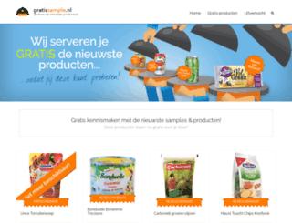 gratissample.nl screenshot
