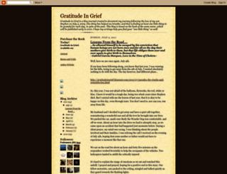 gratitudeingrief.blogspot.co.il screenshot