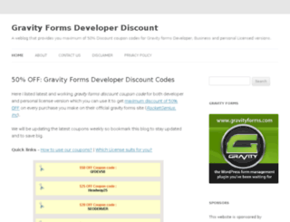 gravityformsdiscount.org screenshot