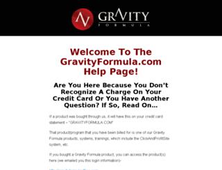 gravityformula.com screenshot