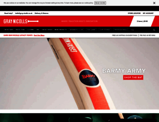 gray-nicolls.co.uk screenshot