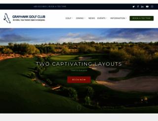 grayhawkgolf.com screenshot