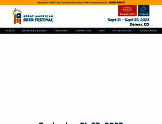 greatamericanbeerfestival.com screenshot