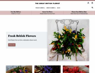 greatbritishflorist.co.uk screenshot