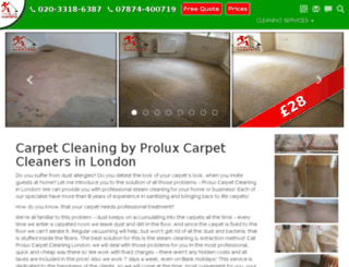 greater-www.proluxcleaning.co.uk screenshot