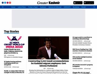 greaterkashmir.com screenshot