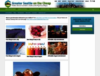 greaterseattleonthecheap.com screenshot